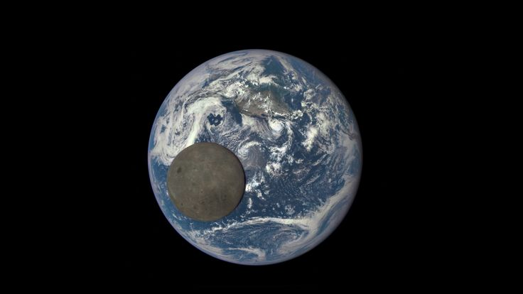 A new satellite keeping tabs on Earth from space captured an incredible animation of the moon passing across the face of the sunlit side of the planet.   The Deep Space Climate Observatory (DSCOVR for short) caught sight of the moon and Earth from the spacecraft's position about 1 million miles from the planet.