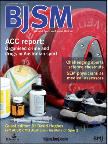 "BJSM Volume 47 Issue 11 | July 2013 ~ ACC report: Organised crime and drugs in Australian sport.  ""'Organised crime and drugs in sport': did they teach us about that in medical school?"" by David Hughes."
