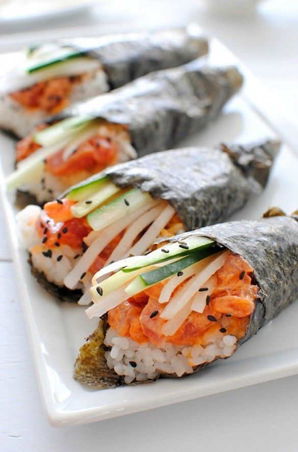 61 best sushi display images on pinterest food network for Can you eat fish everyday