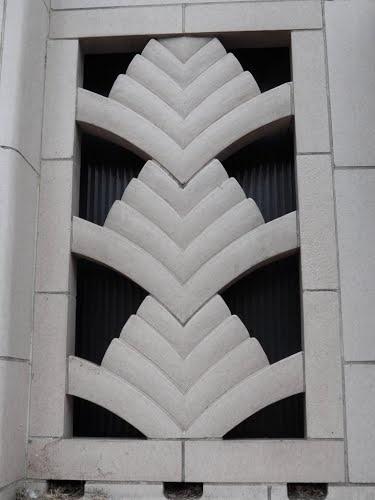 Art Deco Architectural Detail, Old Bank Building, Pendleton Oregon by Pamela Elbert Poland