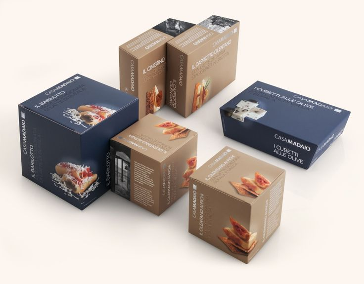 Casa Madaio, Positioning and Packaging System. A very intense blue is the color that identifies fresh cheeses,while a warm and enveloping light brown is the color of aged ones.