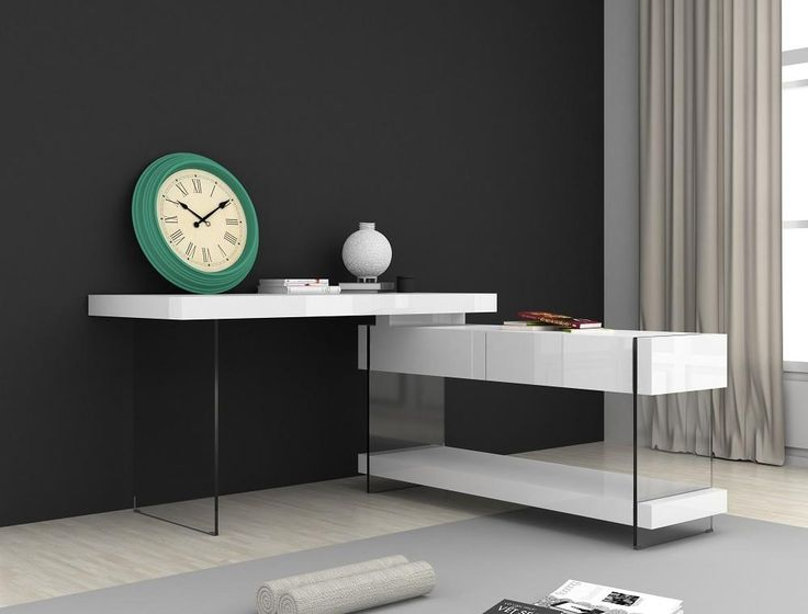 Float Modern Desk in White
