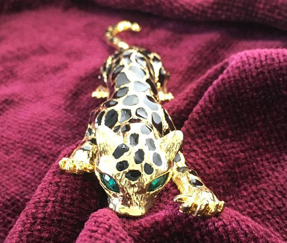 See new listings daily - follow us for updates.  Christmas in July Sale Leopard Brooch with Green Rhinestone Eyes - #Hinged Moving Tail - Hinged - Gold Tone #Leopard with Hinged Tail - #Vintage Leopard Brooch - Figural - Cat... #vintage #jewelry #teamlove #etsyretwt #bestofetsy #leopard #mimisjewelryboutique #large #cat #hinged #figural ➡️ http://jto.li/GFWJ2