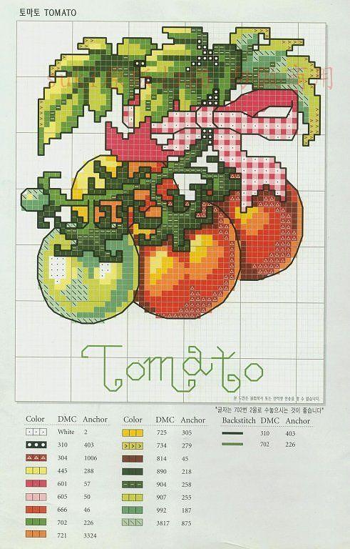 Pomodoro a punto croce