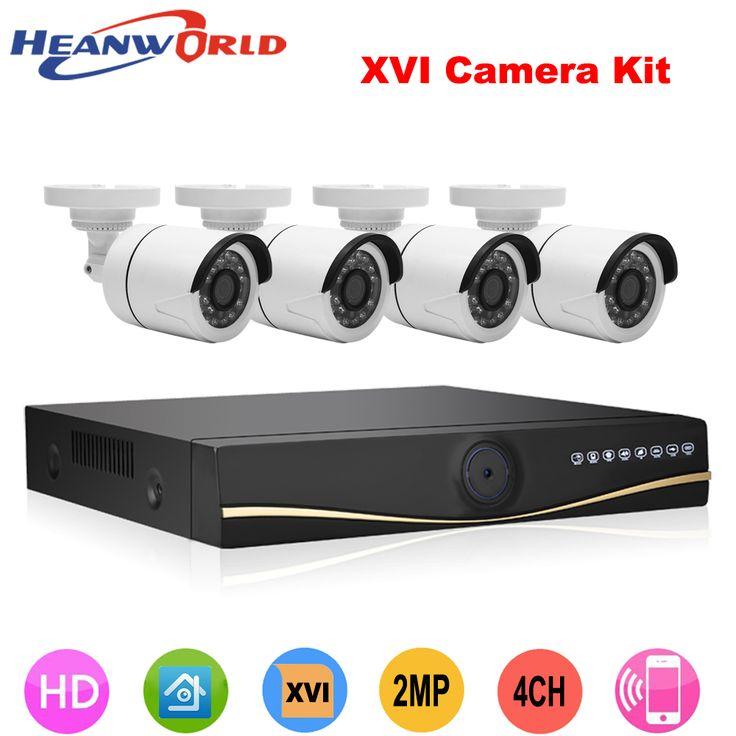AHD 4CH 1080P HD Outdoor Security  CCTV System camera DVR kit HDMI Video Surveillance camera Day/Night Vision camera
