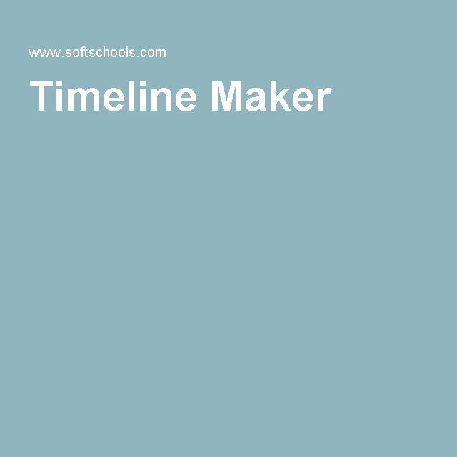 Best 25+ Timeline maker ideas on Pinterest Online timeline maker - sample timeline for kids