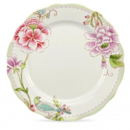 Porcelain Garden by Sanderson for Portmeirion Salad Plates set of 4