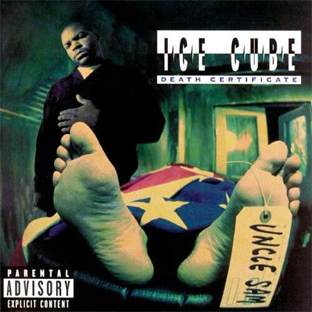 Re-design the cover for Ice Cube's Death Certificate
