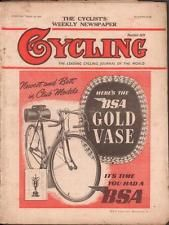Vintage Cycling Magazine March 1951 Cyclists Weekly Newspaper Bicycle Bike