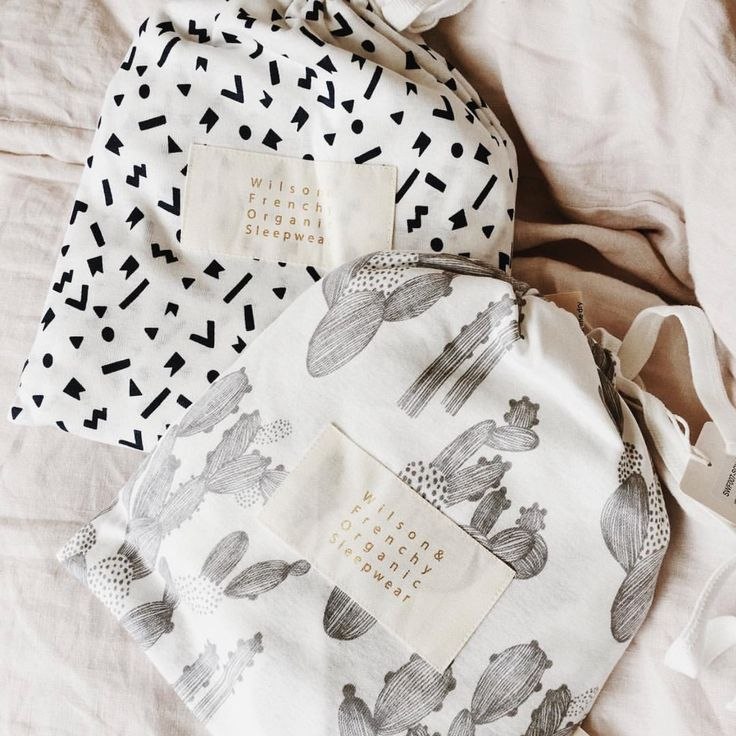 Beautiful packaged! Wilson and Frenchy sleepwear come gift ready in their own fabric bag!  Check out the full range online!  #pyjamas #organiccotton #kidsfashion