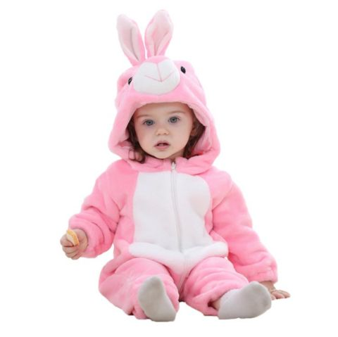 Pink Rabbit Jumpsuit Baby Rompers **FREE+SHIPPING**