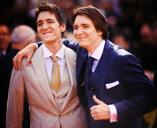 James and Oliver Phelps, I love them because there is two of them :) yum