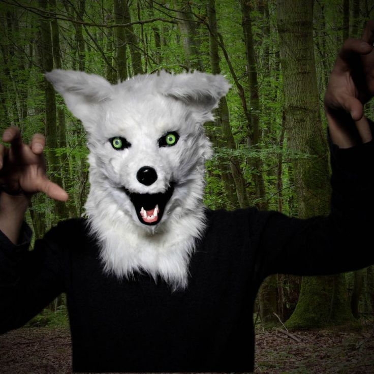 Mr Wolf turns anyone into a wolf. #wolf #mask #halloween