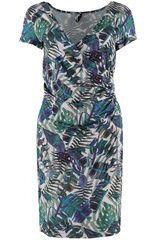 Smash! - jurk met tropische bladeren