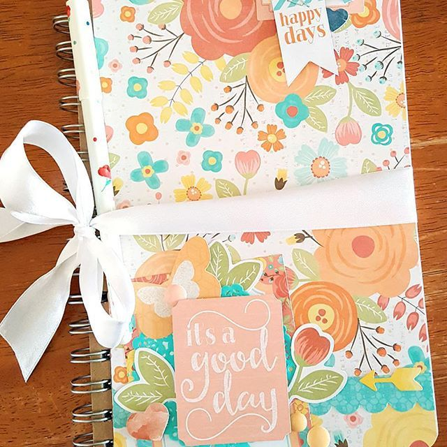 It's a good day.👌 (I know it's only Tuesday but for me that means all kids at school & daycare, so blissful silence.) Covered notebook using the Life is Beautiful collection from Cocoa Vanilla Studio. @cocoa_vanilla_studio #cocoavanillastudio #cvsdesignteam #scrapbooking #lifeisbeautiful #embellishments #papercraft #memorykeeping #paperpretties #stationery #notebook #happytuesday
