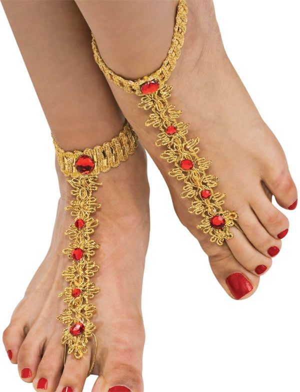 Bollywood Foot Decorations - Bollywood Costumes / must feel the part ..
