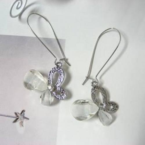 Butterfly Earrings Silver - One Size