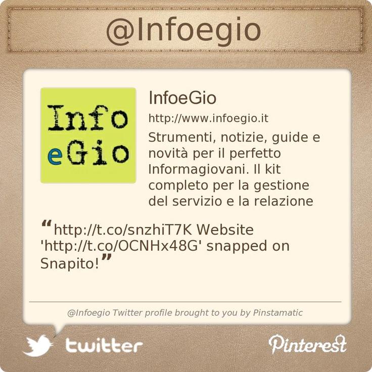 @Infoegio's Twitter profile courtesy of @Pinstamatic (http://pinstamatic.com)