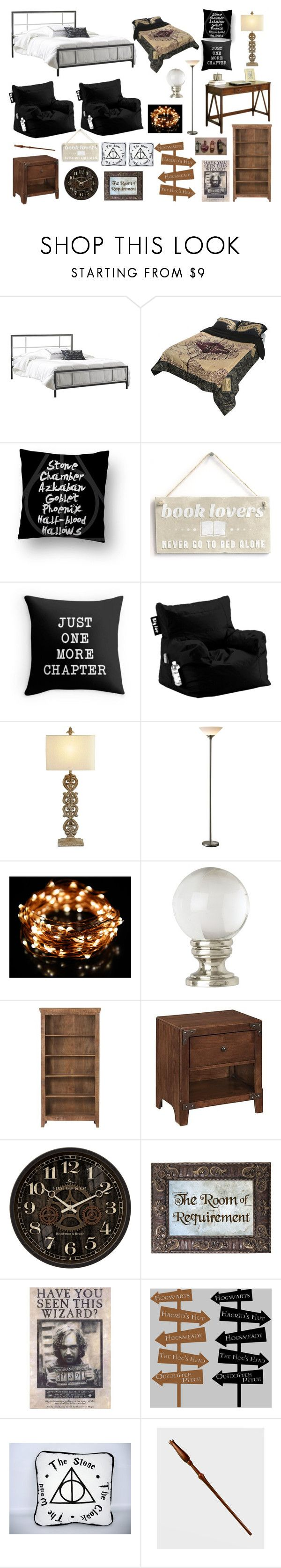 """""""Harry Potter Room"""" by aliboo19 ❤ liked on Polyvore featuring interior, interiors, interior design, home, home decor, interior decorating, Universal Lighting and Decor and Home Decorators Collection"""