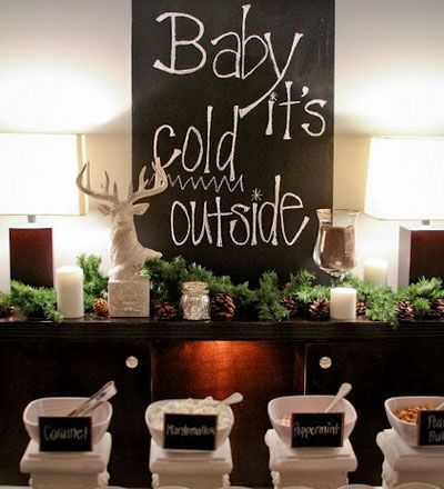 Winter Wedding Ideas - Hot Chocolate Bar - Click pic for 25 DIY Wedding Decorations | Small Budget Wedding Ideas