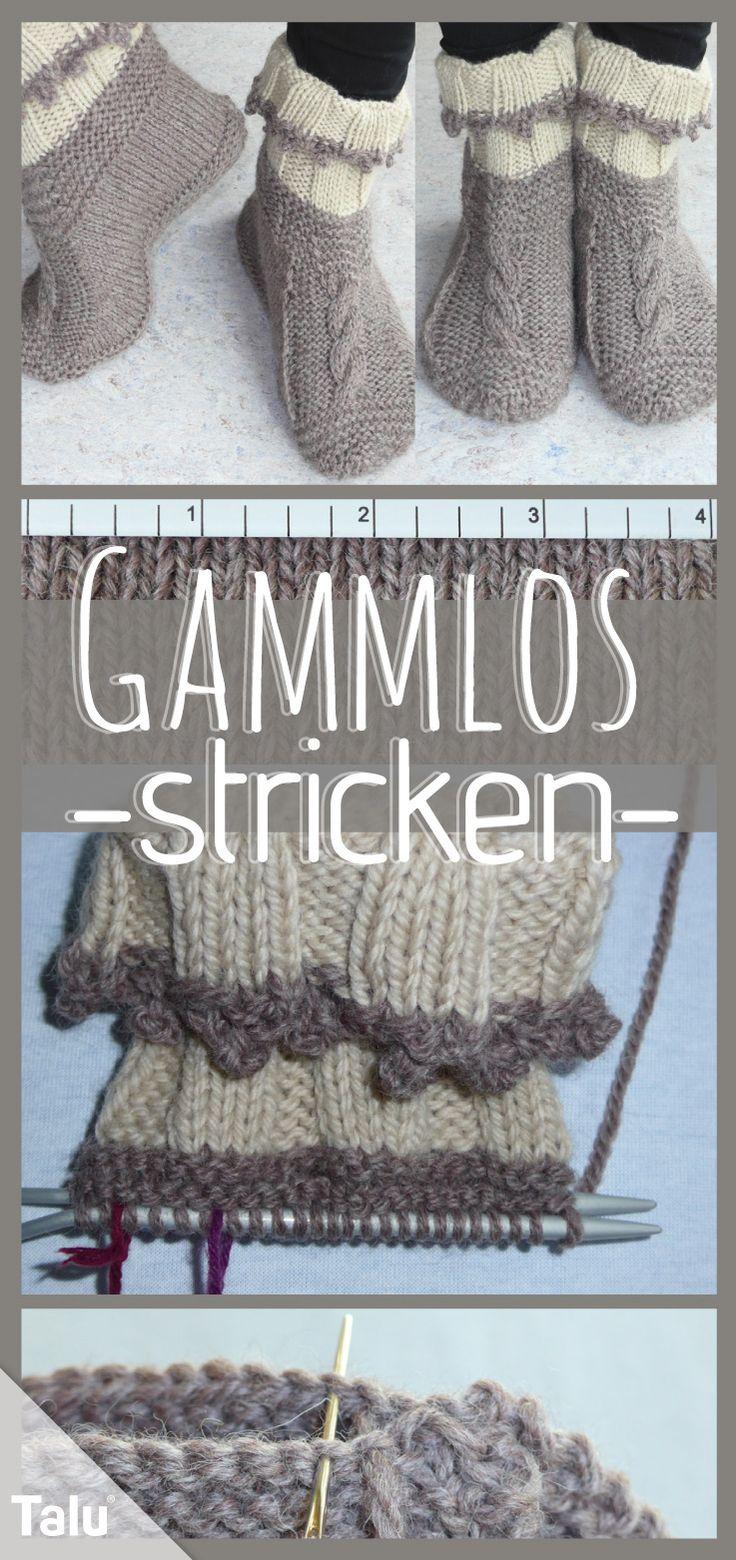 Gammlos stricken: kostenlose Anleitung für bequeme Hüttenschuhe