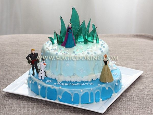 Frozen cake! step-by-step photo