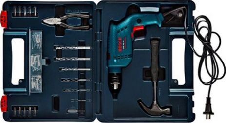 Bosch GSB 450 RE Power Tool Kit (Blue) With Plastic Brief Case.