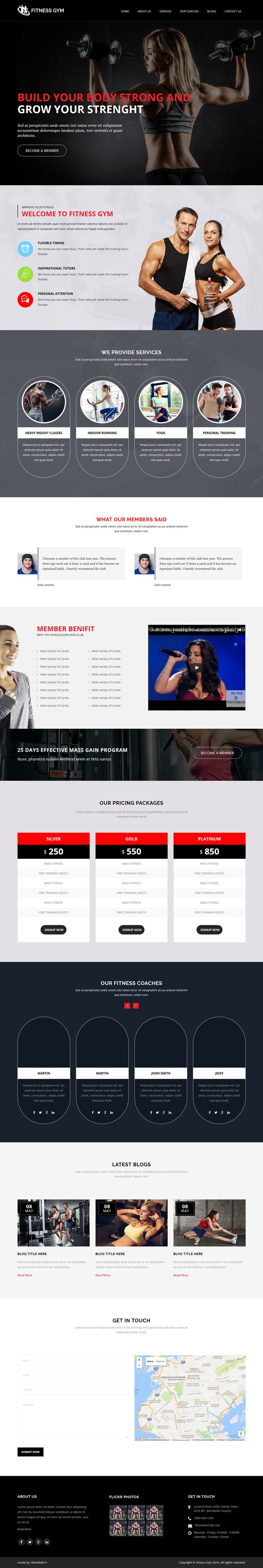 Fitness Gym One Page Responsive HTML5 Template. Live Preview & Download: https://themeforest.net/item/fitness-gym-one-page-responsive-html5-template/15819058?ref=ksioks
