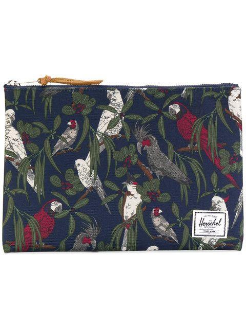 HERSCHEL SUPPLY CO. bird print wash bag. #herschelsupplyco. #