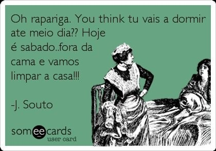 Portuguese girl life! Every Saturday when I was young