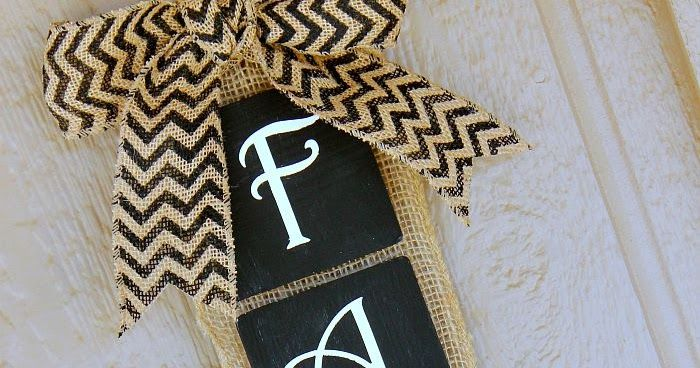 This Fall Burlap banner is the perfect touch for your home this fall!