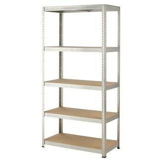 Handson zwaar metalen opbergrek 5 legborden 350 kg/legplank 180x90x45 cm | Wandrekken | Kasten | Meubelen | GAMMA.be