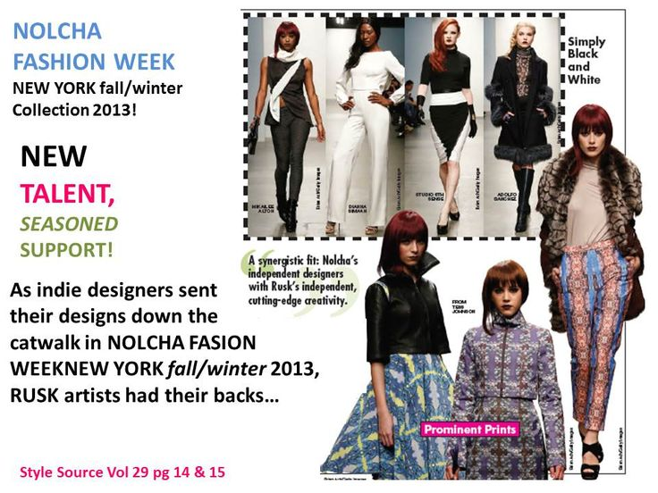 The Rusk artistic design team in action ay Nolcha Fashion Week New York 2013