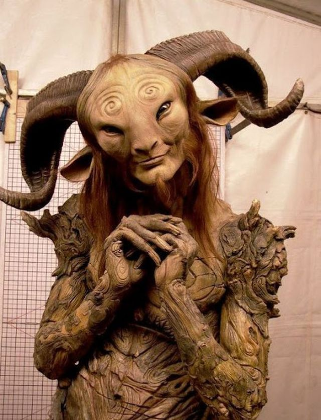 Superior Doug Jones In The Faun Costume During The Filming Of U201cPanu0027s Labyrinthu201d  (Spanish: El Laberinto Del Fauno) Written And Directed By Guillermo Del  Toro U201d
