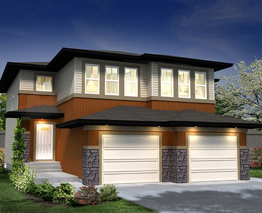 Our Prescot H Duplex ~ available in the ONE at Windermere, Edmonton www.dolcevitahomes.ca