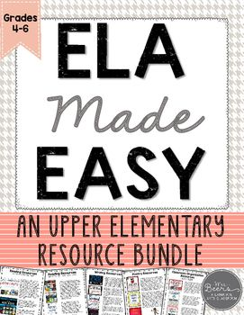 If you teach grades 4-6 and are looking to implement the Daily ELA Rotations with your students, this is the common core aligned, BUNDLE resource for you!  I have included each of my tried and true teaching tools that will make implementing the Daily ELA Rotations--Read to Self, Read to Someone, Listen to Reading, Writing, and Word Work, seamless.