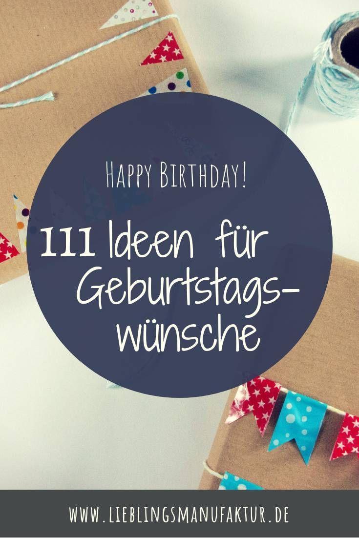 Geburtstagswünsche: 5 Ideen für Deine Karte  Geburtstag wünsche