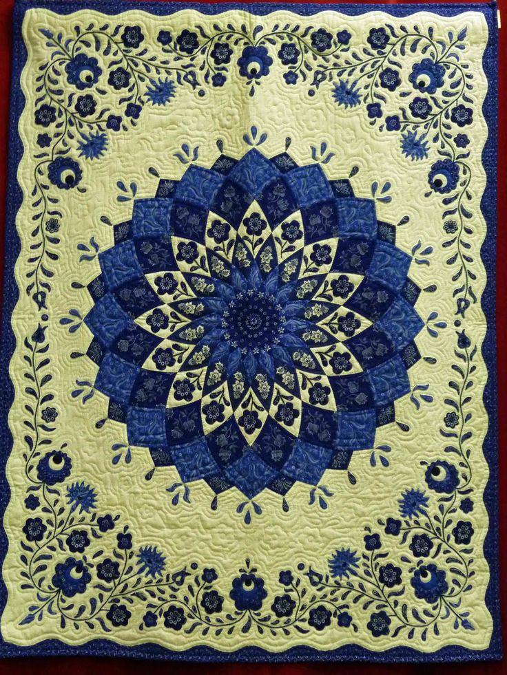 Hungarian folk art quilt seen at Open European Quilt Championships 2010