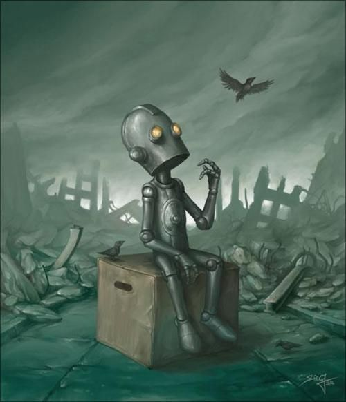Sad robot. This is perfect.