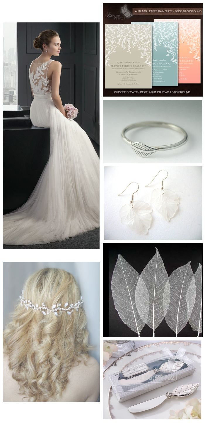 Leaves Wedding Inspiration Board