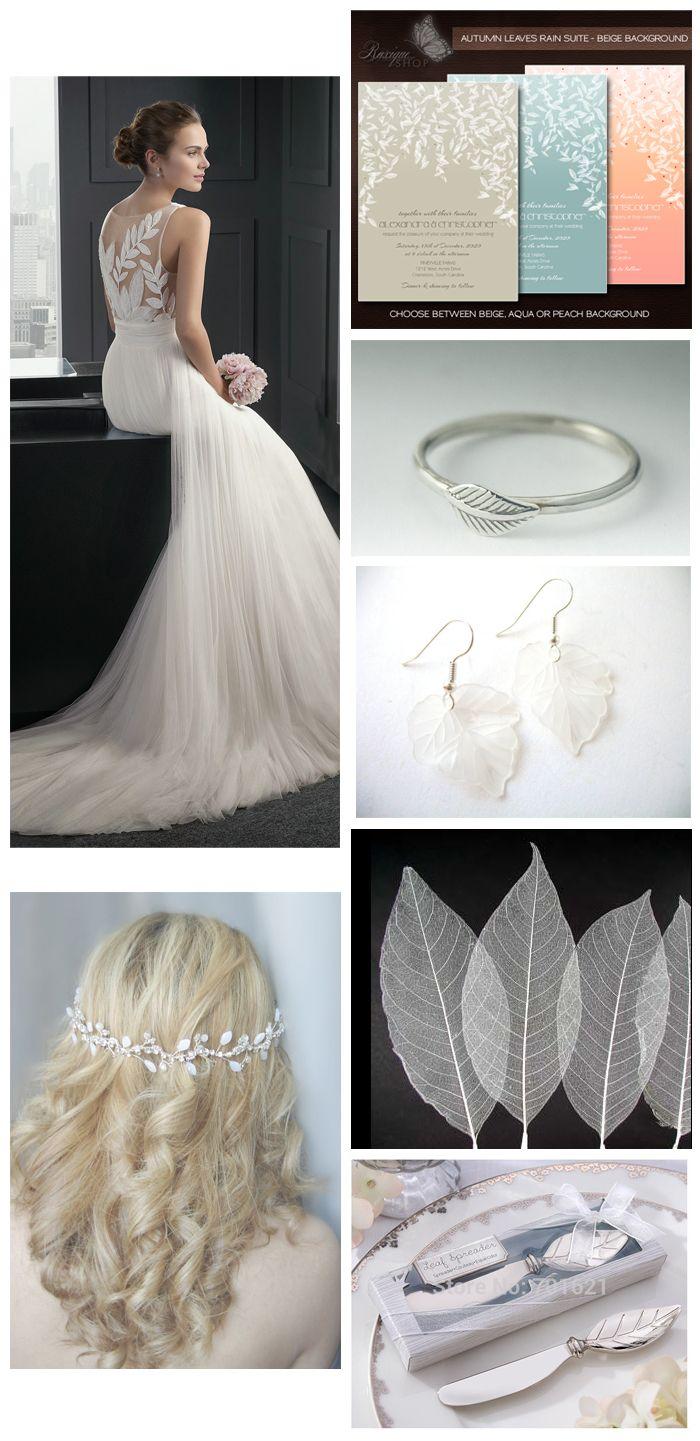 Leaves Wedding Inspiration Board