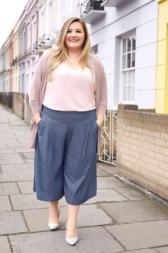 new arrival 8a0e6 71f7f 15 Schicke Plus Size-Outfits mit Culottes | Outfit Mode ...