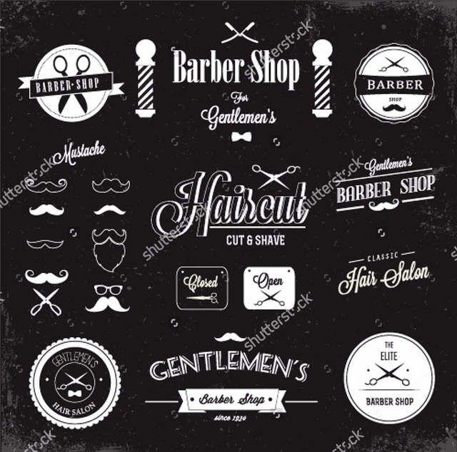Online Shop Custom Barber Wallpaper Barber Shop Labels And Icons 3d Modern For Living Room Sofa Background Papel De Parede Barber Shop Decor Barber Shop Barber