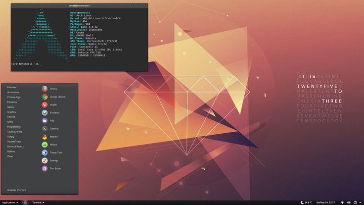 Photo: Gnome 3.20 Arch Linux.....