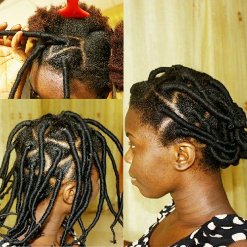 African hair threading with rubber thread
