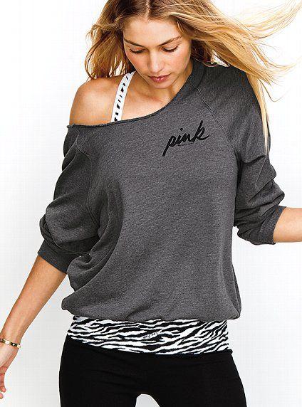 Victoria's Secret PINK® Slouchy Crew #VictoriasSecret http://www.victoriassecret.com/pink/tops/slouchy-crew-victorias-secret-pink?ProductID=75149=OLS?cm_mmc=pinterest-_-product-_-x-_-x