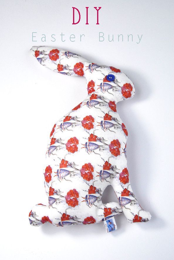 DIY Easter Bunny - FREE Sewing Pattern and Tutorial