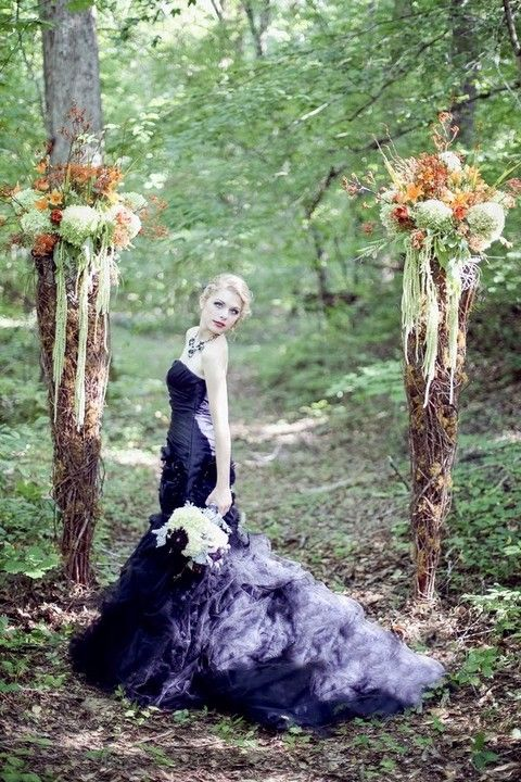 37 Halloween Wedding Dresses That Inspire | HappyWedd.com