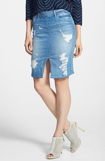 17 Best images about Destroyed Denim Skirts on Pinterest | Knee ...