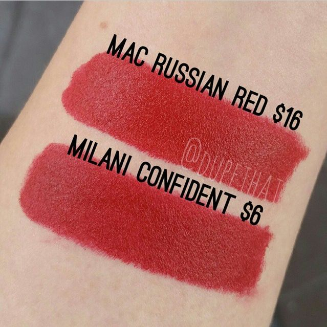 Dupethat : MAC Russian Red Dupe is Milani Confident